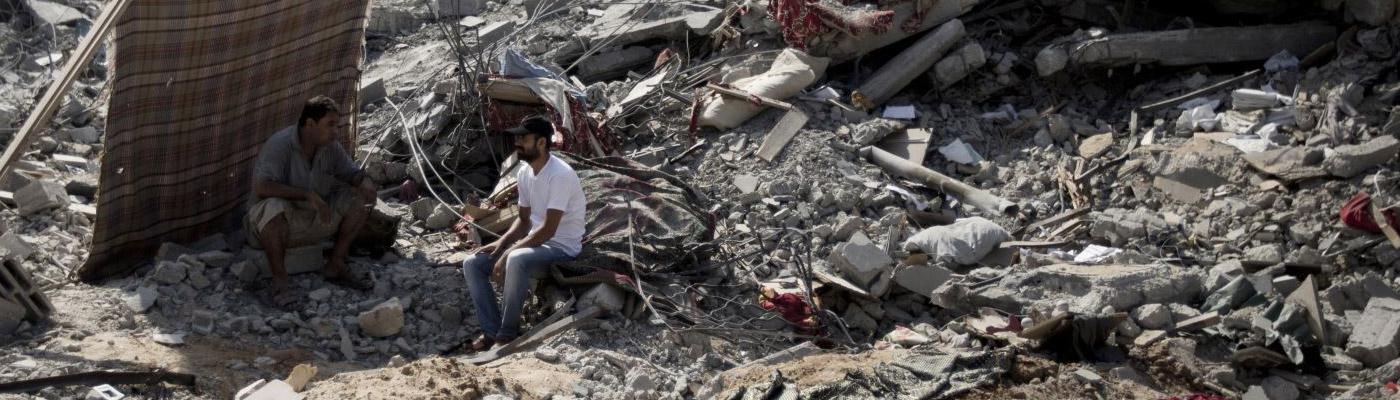 Presentación de la brigada de paz y reconstrucción en Palestina