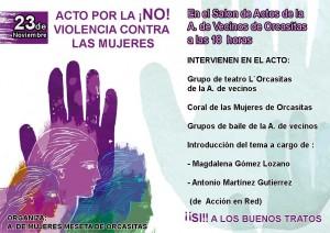 Cartel del Acto editado por la Asociación de Mujeres Meseta de Orcasitas