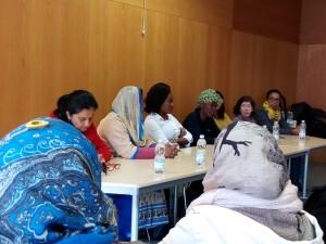 Mujeres ponentes del acto de Enredarse en la sesión de mañana