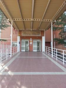 Entrada del IES Duque de Rivas, en Rivas-Vaciamadrid.
