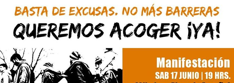 Manifestación, Queremos acoger ¡YA!